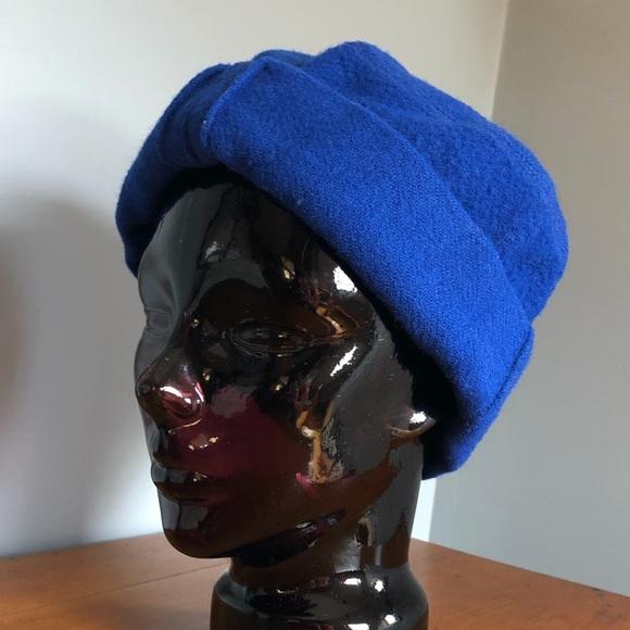 90's Royal Blue Wool Ethnic Winter Hat